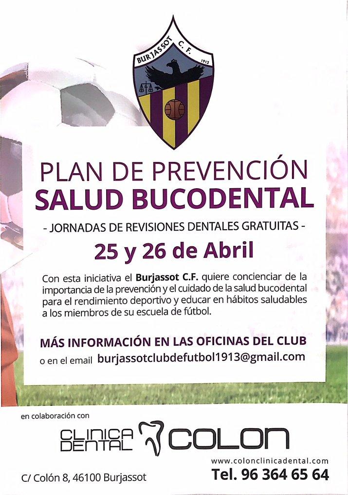 Plan de Prevención Salud Bucodental Burjassot CF
