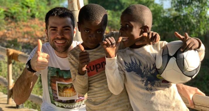 Hilario en misión solidaria en Tanzania